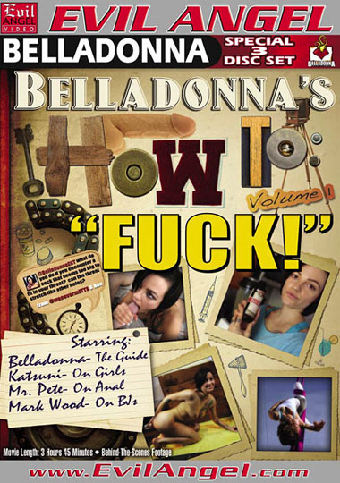 Belladonna's How To Fuck (2012) free large front cover